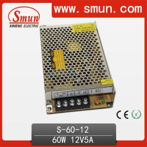60W 5V/12V/15V/24V/36V/48V Single Output Switching Power Supply/SMPS CE RoHS 2 Year Warranty (S-60-12) pictures & photos