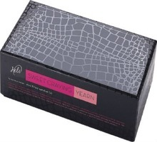 Luxury Paper Gift Box with Leather Embossing (Croco) for Perfume
