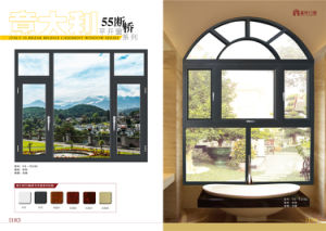 Low Price Thermal Break Aluminium Window with Double Glazing Glass pictures & photos