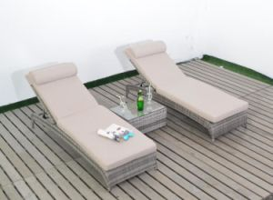 High Quality Outdoor Furniture Garden Patio Rattan Chaise Beach Sun Lounger pictures & photos