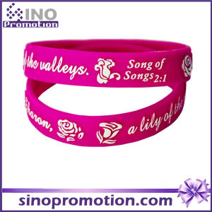 Wholesale Two Color Personalized Sport Cheap Custom Silicone Bracelet pictures & photos