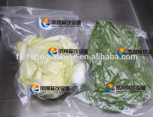 Fsdz-3 Continuous Automatic Fried Potato Chips Beans Rice Tea Vacuum Packing Machine pictures & photos