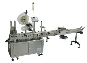 Milk Powder Can Cap Labeling Machine/Labeler pictures & photos