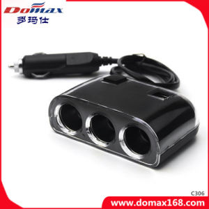 Car Accessories 3 Sockets Electronic Cigar Refillable Smocking Lighter pictures & photos