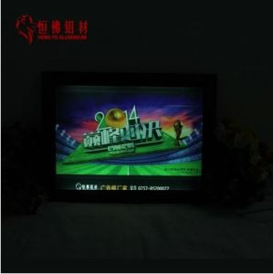 Aluminum Snap Picture Frame Photo Frame with LED pictures & photos