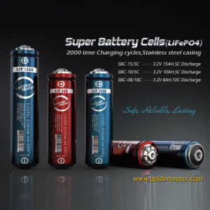 Super Rechargeable LiFePO4 Lithium 18650 Battery Cells pictures & photos