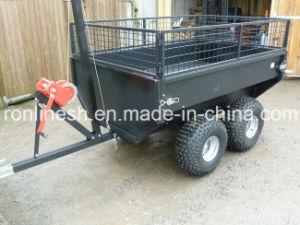 Dual /Double Axle1000kgs/1-Ton ATV/Quad/UTV Trailer/Multiple/Multipurpose Trailer/Box Trailer/Cargo Trailer with Top Mesh, Winch CE pictures & photos