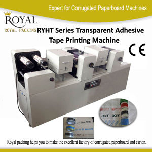Transparent Adhesive Tape Printing Machine for BOPP, PVC and Plastic Film Economic Machine (RYHT) pictures & photos