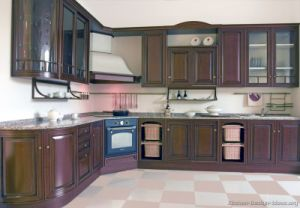 Dark Walnut Kitchen Cabinets (d771) pictures & photos