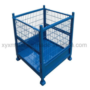 Warehouse Industrial Foldable Storage Steel Wire Mesh Roll Stillage Cage pictures & photos