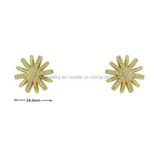 Fashion Star Shaped Earrings Stud with Cubic Zirconia for Girl (KE3154) pictures & photos
