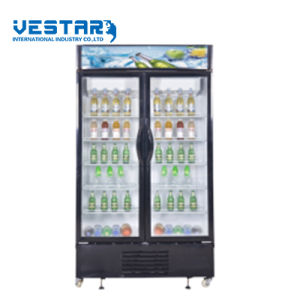 Store Display Refrigerator Showcase with Glass Door pictures & photos
