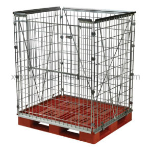 Stackable Steel Storage Wire Mesh Container for Pallets Retention Unit pictures & photos