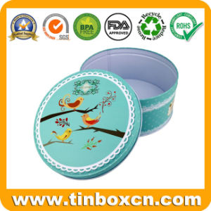 Food Grade Round Cookie Tin Box for Biscuit Tin Can pictures & photos
