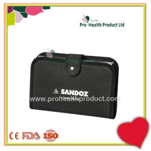 Leather Purse 7 Day Pill Box PU Leather Wallet 7 Days Travel Plastic Pill Container pictures & photos