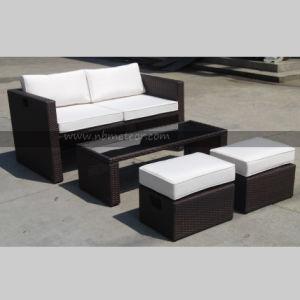 Mtc-299 Outdoor Garden Promotion 4 PCS Sofa Set in 1 Carton Poly Rattan pictures & photos