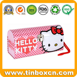 Hello Kitty Handle Metal Rectangular Gift Tin Box pictures & photos