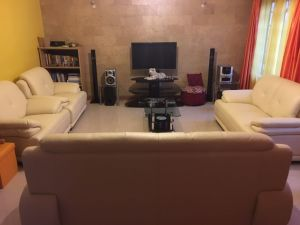 Black Leather Sofa, Modern Sofa, Living Room Sofa (B. 939) pictures & photos