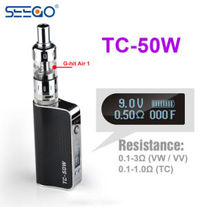 Hot Box Vaporizer Seego Tc-50W Android TV Box Adjustable Vape Mod with 510 Thread pictures & photos