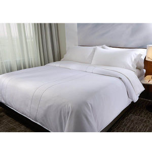 Egyptian Cotton White Bed Linen Set Luxury Sateen Duvet Cover pictures & photos
