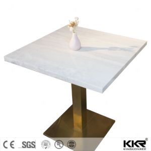 Kkr Customized Dining Table Solid Surface Restaurant Table pictures & photos