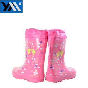 Pretty Pattern Kids Rubber Rain Boots Manufacture pictures & photos