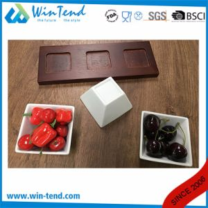Customized Manufactory White Porcelain Hotel Restaurant Buffet Tapas Set with Slate pictures & photos