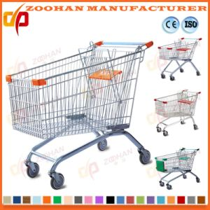Good Quality European Style Zinc Supermarket Shopping Cart Trolley Zht134 pictures & photos