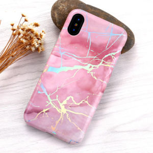 New Plated Bright Marble Phone Case for iPhone X/8/8plus pictures & photos