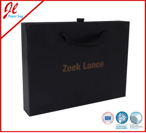Luxury Packing Box, Paper Box, Garment Gift Boxes with Handle pictures & photos