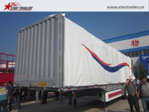 3axles Curtain Side Semi Trailer Curtainsider for Sale pictures & photos