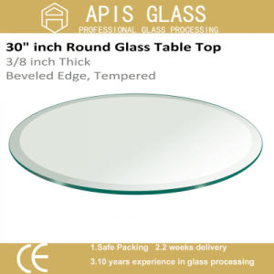 6mm 8mm 10mm 12mm Diameter 560mm 916mm Round / Circle Coffee Hotel Furniture Tempered/Toughened Tabletop Glass pictures & photos