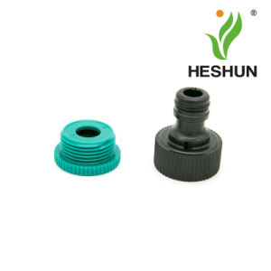 "Adjustable Plastic 1/2"" & 3/4"" Garden Tap Connector pictures & photos"