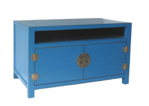 Chinese Antique Furniture Blue Wooden Cabinet Lwb484-2 pictures & photos