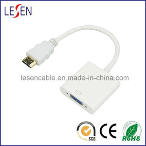 High Speed 1080P Shielded Male to Female Adapter HDMI to VGA Cable pictures & photos