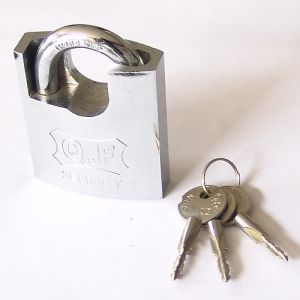 Extra High Security Heavy Duty Shackle Protected Solid Iron Padlock