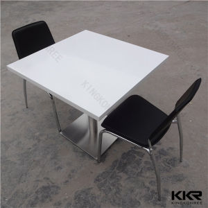 Kkr Solid Surface Stone Restaurant Furniture Food Court Dining Table Set (T170823) pictures & photos