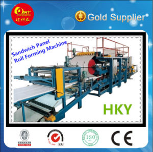 PLC Control Sandwich Panel Making Machine (HKY) pictures & photos
