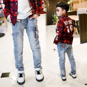 2017 Spring Autumn New Boys Jeans Kids Rushed Children Jean pictures & photos