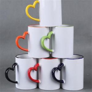 Sublimation Heat Transfer Heart Shape Color Handle Mugs Mkb03