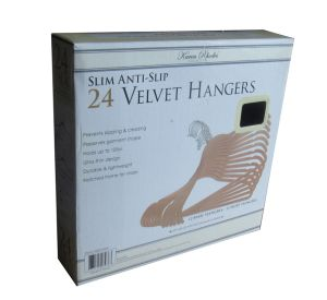 with Clips Velvet Pants Hanger Plastic Hanger Hangers for Jeans pictures & photos