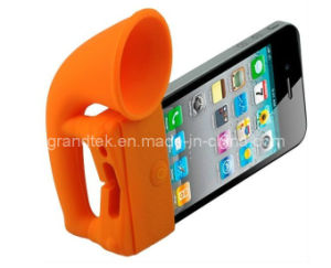Silicone Horn Stand Amplifier Speaker for iPhone 5 New Style