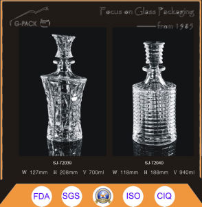 1000ml Crystal Glass Bottle with Cork pictures & photos