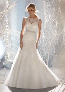 Beaded A-Line Style Best Selling Bridal Wedding Dresses (WMA3049) pictures & photos