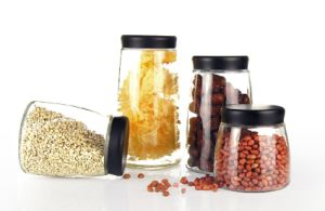 Glass Jar of Kitchenware Mattte Cap 900ml, 1300ml, 1700ml pictures & photos
