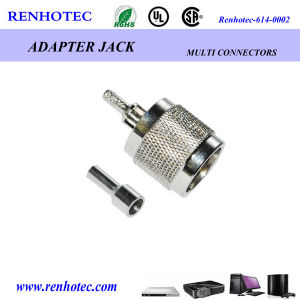 4 Hole Square Flange Mount Jack Bulkhead TNC Connector pictures & photos