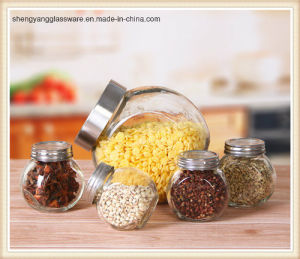 150ml Small Clear Glass Salt and Pepper Mini Glass Storage Jar pictures & photos