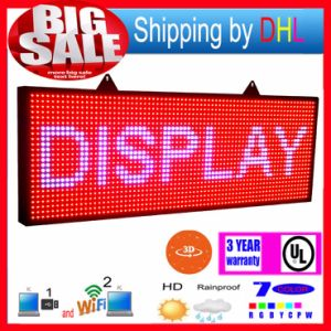 P13 WiFi Wireless Control LED Rolling Display RGB Outdoor 7-Color 3D Effects LED Signs 39X14inch Programmable Display Panel pictures & photos