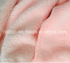100% Polyeser Solid Color Knitted Microfiber Plush Coral Fleece pictures & photos