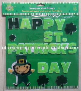 St. Patrick′s Day TPR Window Gel Clings Sticker